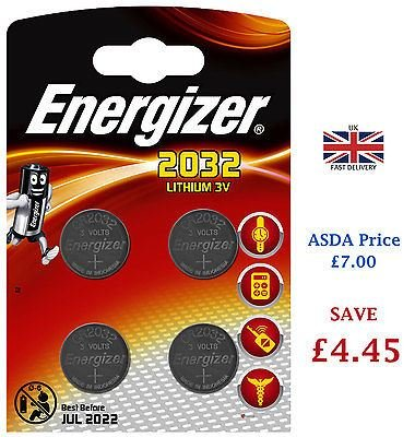 Ten Pack Energizer CR2032 3V Lithium Button Coin Cell Battery Iluv Batterie