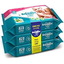 Snuggles Baby Wet Wipes with Aloe Vera and Vitamin E, 72 Pcs/Pack (Pack of 3)