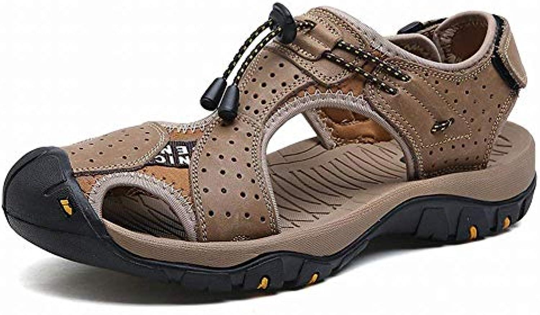 Oudan Baskets à la Mode en en Cuir Confortables Chaussures de Plage Baotou en Mode Cuir Tous Les vêtements de Sport (coloré... 0de5a2