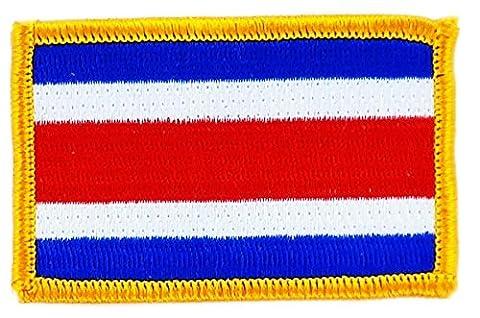 Patch écusson brodé drapeau costa rica thermocollant insigne backpack
