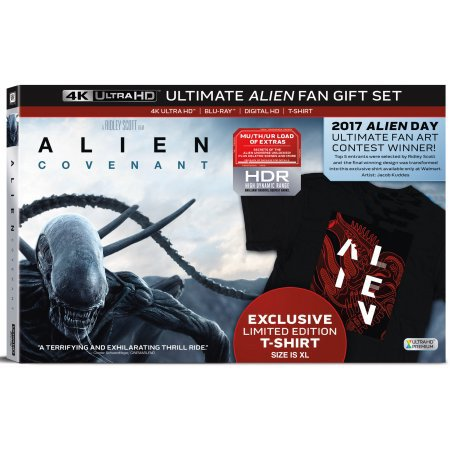 Alien: Covenant (Ultimate Alien Fan Gift Set) (4K Ultra HD + Blu-ray + Digital HD + T-Shirt) (Limited Edition) [4K Blu-ray]