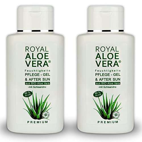 Royal Aloe Vera Premium Pflege Gel After Sun/Aftershave mit 92% Bio Aloe Vera und Schisandra (2) -