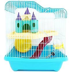 BPS® Hamster Cage Hamster Chalet avec échelle de Tunnel et de Haute qualité Couleur Maison spéciale est expédié au Hasard 28 * 21 * 31 cm (au Hasard) BPS-1340AA