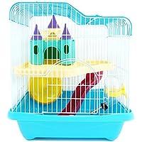 BPS® Hamster Cage Hamster Chalet con scala a tunnel e alta qualità Special House Il colore viene spedito a caso 28 * 21 * 31 cm (a caso) BPS-1340AA