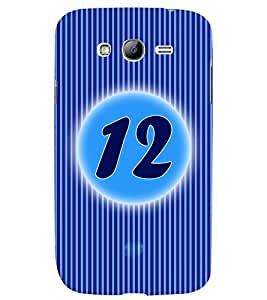 Fuson 3D Printed Numerology Designer back case cover for Samsung Galaxy Grand Neo I9060 - D4230