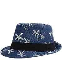 Leisial Homme Panama Chapeau de Paille Casquettes visières Anti-soleil Respirant Anti UV Chapeau de Soleil pour plage Loisir Voyage