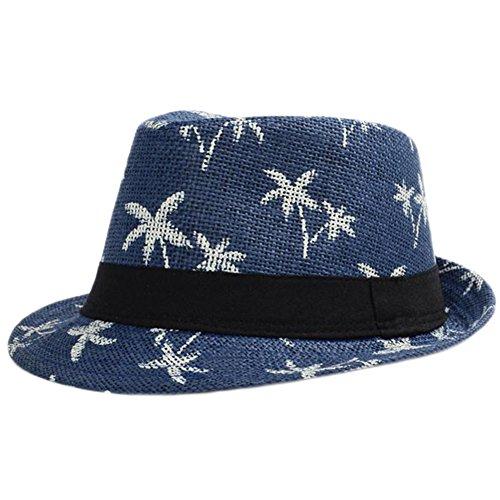 Leisial Sombrero Playa Paja de Viajes Vacaciones Verano Gorro Estilo Británico para...