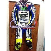 Moto motocicleta de carreras de piel traje de Valentino Rossi réplica 100% Piel de Vaca GIE Gears