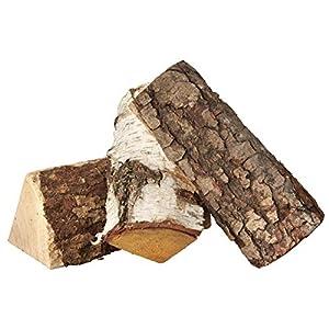 HTT Decorations – Leña de Madera Dura para Chimenea, Hoguera y leña de Abedul, Aliso y Fresno Secos al Horno, 40 litros