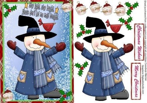 Whimsy Snowman by Ceredwyn Macrae - Whimsy Snowman
