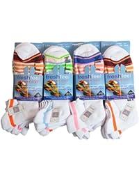 6 Pairs Fresh Feel Sport Max Cushioned Trainer Liner Socks L10704