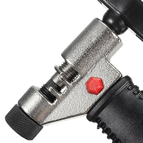 Kettennietdrücker, GOCHANGE Kettenwerkzeug Kettennietentferner,Kettennieter für Fahrrad Ketten Entferner Werkzeug, schwarz - 7