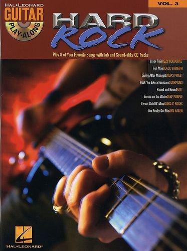 Guitar Play Along HARD ROCK (+CD) mit Plektrum -- 8 Hard Rock Klassiker u.a. mit IRON MAN (Black Sabbath) und SMOKE ON THE WATER (Deep Purple) für Gesang und Gitarre in Standardnotation und Tabulatur (Noten/sheet music)