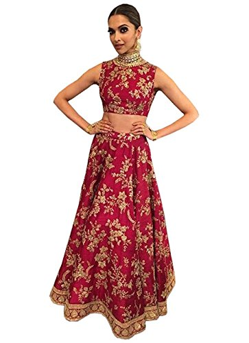 Adorn fashion Deepika Joya Silk Red Lehenga Choli At Life Ok Screen...