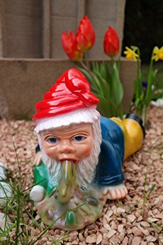 Gartenzwerg Brandy Andy aus bruchfestem PVC Zwerg - Made in Germany Figur