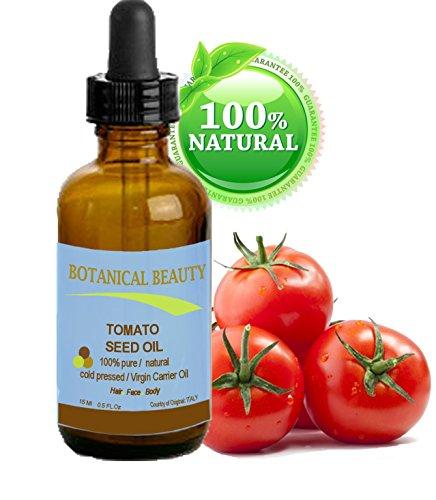 Huile de graine de Tomate 100% vierge / froid non dilué naturelle pure huile pressée. Pour la peau, des cheveux et des lèvres soins - 15ml. \