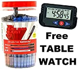 #7: Combo Pack Nataraj GCM Use & Throw Ball Pens ( Pack of 100 PENS ) - GET FREE PAPPI BOSS TABLE LED DIGITAL WATCH worth Rs.249 with the PACK