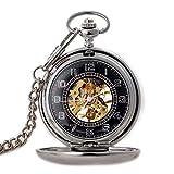Phoenix Pocket Watch - Máquina de Tallado de Medio Corte Vintage Flip Student Collar Mesa Escala Romana Regalo de cumpleaños, Mesa Antigua