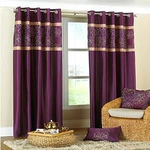rideaux oeillets imitation soie bella frise brod e. Black Bedroom Furniture Sets. Home Design Ideas