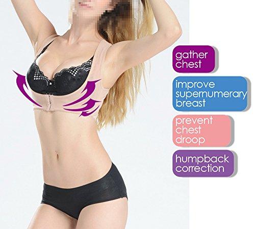 Genmine Frauen Bucklige Körperhaltung Korrektor oberen Schulter mit Push-Up-BH (M) (Rücken-unterstützung Cross Criss)
