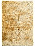 benuta Shaggy Hochflor Teppich Whisper Gelb 120x170 cm | Langflor Teppich für Schlafzimmer und Wohnzimmer