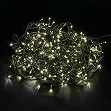 600 LED Lichterkette Warmweiss 50m + 10m Zuleitung Innen/Aussen Grüne Kabel Weihnachten Beleuchtung