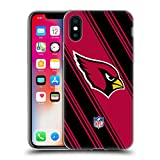 Head Case Designs Offizielle NFL Streifen 2017/18 Arizona Cardinals Soft Gel Hülle für Apple iPhone X