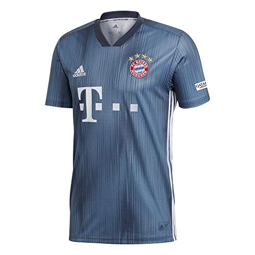 Adidas Bayern Munich Third Maillot de Football Homme, Raw Steel/Utility Blue/White, FR : M (Taille Fabricant : M)