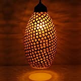 #4: Earthenmetal Handcrafted crystal decorated Glass mosaic hanging Light
