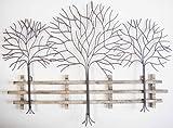 Wall Art - Metal Wall Art Picture - Winter Tree Scene - Brilliant Wall Art - amazon.co.uk