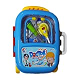 MAGNIFICO® Pretend Play Doctor Set for Kids Medical Kit in A Trolley Suitcase with Light and Sound Effects
