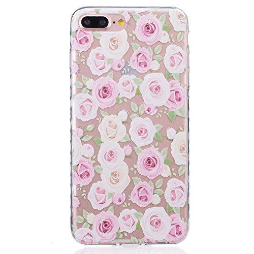 Pour Apple iPhone 7 Plus (5,5 Pouces) Coque ZeWoo® Étui en Silicone TPU Housse Protecteur - BF075 / Une Petite Mort BF085 / Des Roses