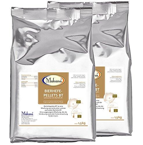 Makana Bierhefepellets BT mit Leinkuchen und Bierhefe BT 2er Pack (2 x 1,5 kg)