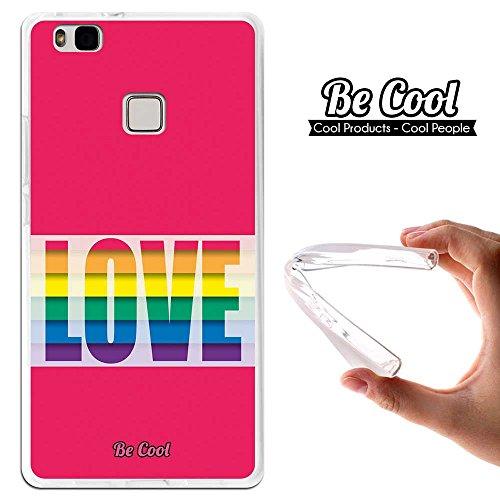Preisvergleich Produktbild Becool® Premium - Flexible Gel Schutzhülle für Huawei P9 Lite, TPU Hülle aus bestem Silikon gefertigt, die dank unserem exklusivem Design sich einwandfrei an Ihr Smartphone anpasst und optimalen Schutz gewährleistet. Liebe färbt LGBT Pride Day.