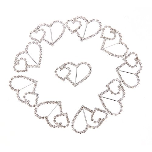 Dash Long Sleeve (Zokra(TM) 10Pcs 15mm DIY Button Accessories Double Hearts Crystal Rhinestone Button Christmas Party Wedding Decoration Supplies)