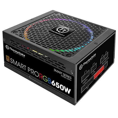 Thermaltake Smart Pro RGB Alimentatore da 650 W, Modular 80+ Bronze, Nero