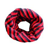 Butterme Warm Loop Schal Jungen Mädchen Strickschal Classic Striped O Ring Schal Winter Schal Kinderschal Loopschal