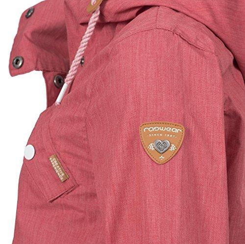 Ragwear Damen Mantel Übergangsmantel YM-Clancy Chili Red Gr. M - 5