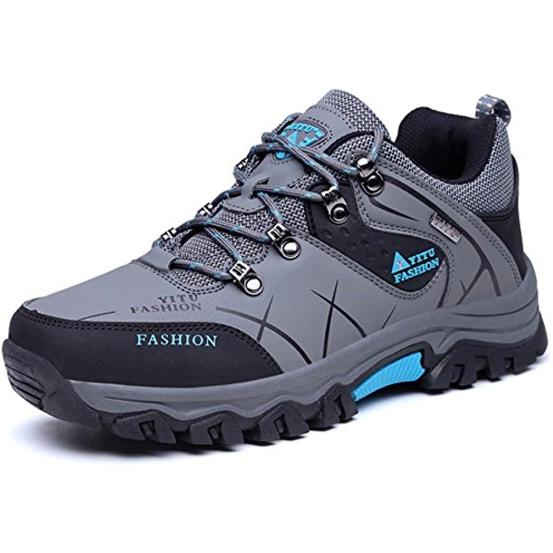 YITU Senderismo Botas Mens Impermeable Trail Mountain Zapatos para Caminar Viajes Camping Outdoor Zapatillas Más Tamaño Disponible 39-47 -