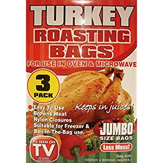 3 Pack of Jumbo Size Turkey Roasting Bags - 'As Seen on TV'