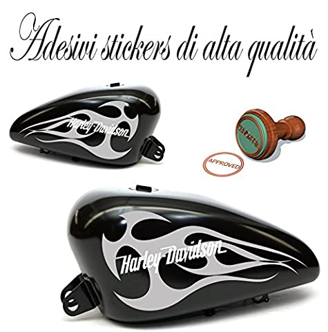 Paire 2Sticker Stickers Decals Stickers réservoirs serbatorio réplique Sportster Dyna Softail Harley Davidson Flame réplique