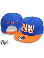 """Midi Shopping - Casquette Snapback Pas Cher Cap Hat Flatbrim """"Miami"""" CAP 38MIA"""
