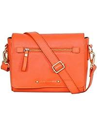 Orange Flap Over Sling Bag