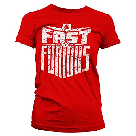 Fast & Furious - Est. 2007 Official Women T-Shirt (Red), XX-Large