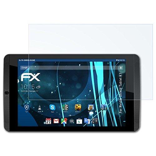 atFolix Schutzfolie kompatibel mit Nvidia Shield Tablet K1 Panzerfolie, ultraklare & stoßdämpfende FX Folie (2X)