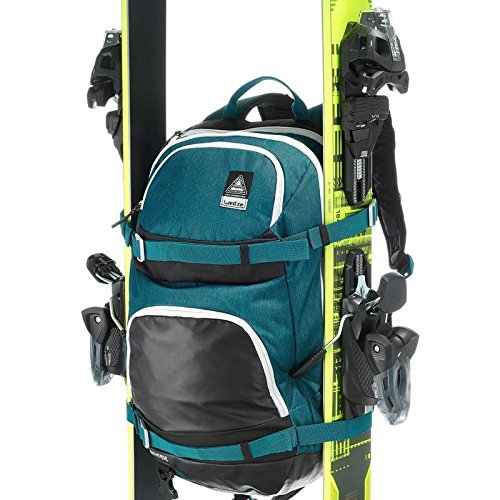Wedze Rucksack für Skifahren & Snowboarding, mit Gurten für Ski/Snowboard - blau