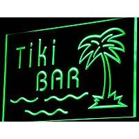 Insegna al neon i787-g Tiki Bar Palm Tree Island Display NEW Light Sign
