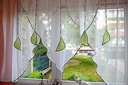Ines Sehr schöne Fertig Gardine/Gardine / Stores Vorhang/Hell grün