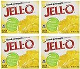 Jell-O Gelatin Dessert, Island Pineapple, 3Ounce Boxes (Pack Of 4)