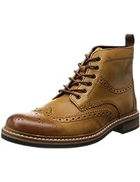 para Piel de botas Allyn Clarks hombre Top marrón marrón
